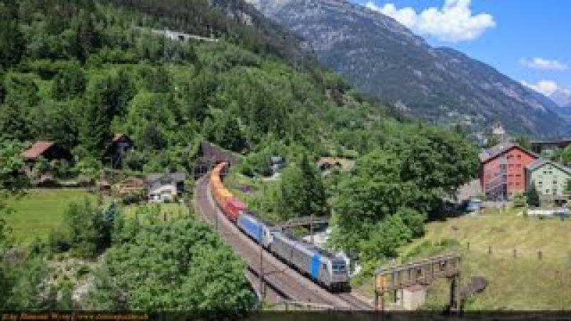Bergstrecke Gotthard und Zulauf, Sommer 2015 - Alptransit
