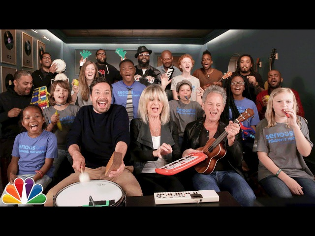 "Jimmy Fallon Kids from SeriousFun Buckingham McVie Sing Don't Stop"" Classroom Instruments"