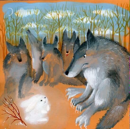 Сказка для взрослых.  Земляки.  Жили были в лесу два волка. Один был С