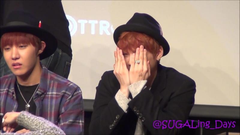 BTS(방탄소년단) DARK WILD 앙코르 팬사인회 SUGA Focus141127 - 강남