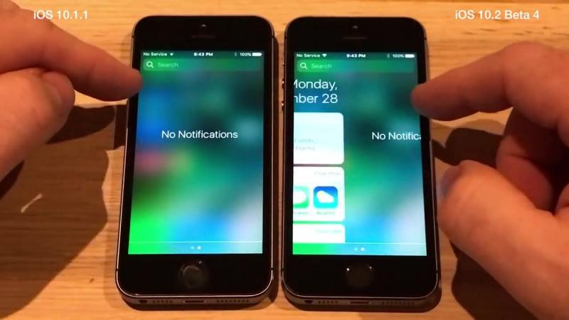 iPhone 5S _ iOS vs iOS 10.2 Beta 4 _ Public Beta 4 Speed Test Build # 14C