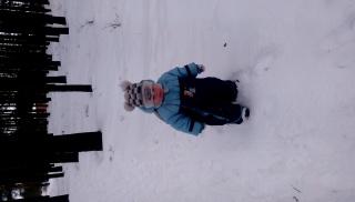 Медвежонок в снегу ))