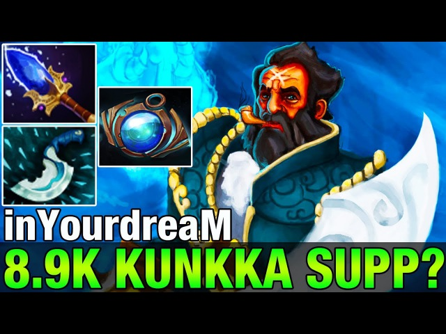 InYourdreaM 8.9K MMR Plays Kunkka With Aghanim's and Ather Lens - Dota 2
