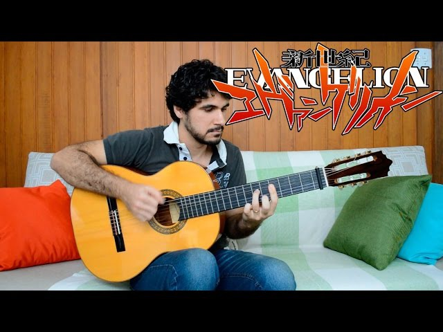 Evangelion Theme Song (Cruel Angel's Thesis) - Fingerstyle Guitar (Marcos Kaiser) 77