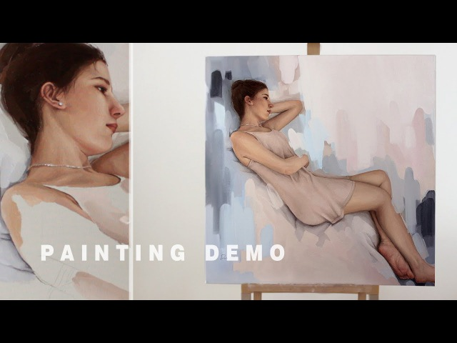 PAINTING TIME LAPSE Confidence in yourself and your art voice over