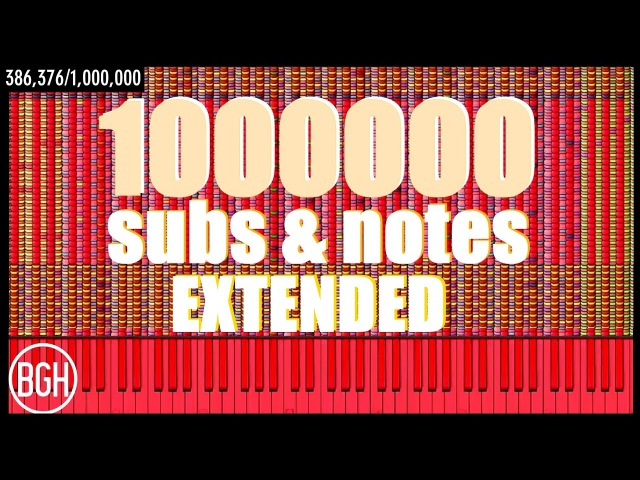 1 Million Subs Notes Extended with note count