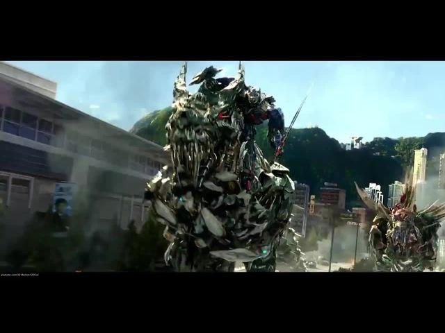 Optimus Prime vs. Grimlock Dinobots vs. Decepticons - Transformers: Age Of Extinction Blu-ray HD