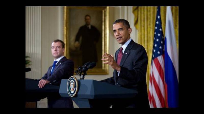 Совместная пресс-конференция Президента США Барака Обамы и Президента России Дмитрия Медведева. 24 июня 2010 года.
