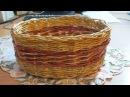 Плетение из газет корзинка часть №2 Como hacer cestas con periódico