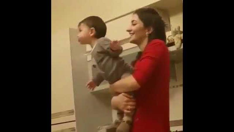 Жена и сын MiyaGi Азамат Кудзаев