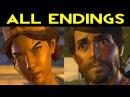 The Walking Dead Season 3 Episode 5 ALL ENDINGS Bad Ending 1 Good Ending 2 Clementine Ending