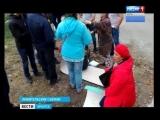 Крепкие парни применили силу, чтобы разогнать митинг против точечной застройки под Иркутском