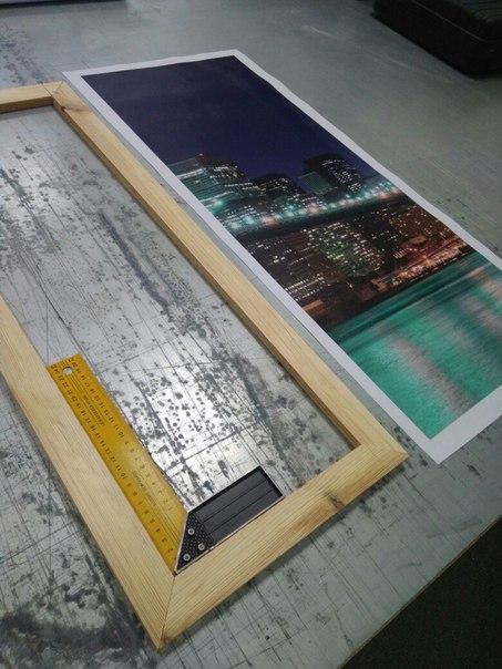 Изготовление модульных картин на этапе подрамника.