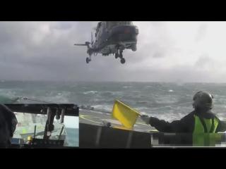 Напряженная посадка в шторм
