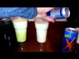 РЕАЦИЯ МОЛОКА НА ЭНЕРГЕТИКИ БЕЛОРУСИЯ XS ENERGY DRINK vs RED BULL vs BURN 4