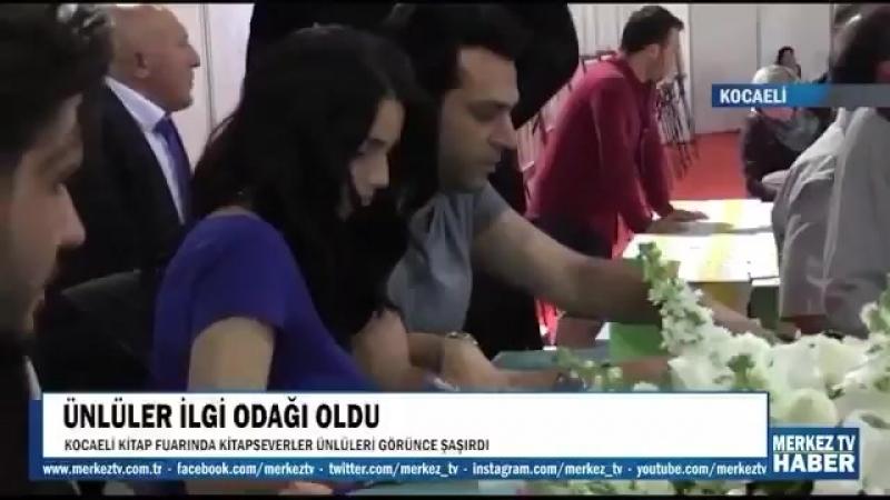 Murat Yildirim Imane Elbani Yildirim Tolgahan Sayısman Almeda Abazi 17 05 2017 Kocaeli Kitap Fuarı Kocaeli Kitap Fuarın'da