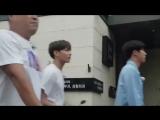 [FANCAM] 170917 BTS (Чонгук, Джин) на съемках шоу 'Let's Eat Dinner Together'