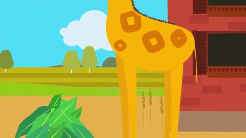 Друзья Животные - Веселая обучающая песенка для детей, малышей - Трактор едет в гости к друзьям-[save4.net]