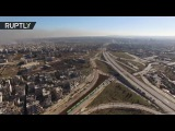 Evacuation of east Aleppo  20 buses to transport 5K rebels with families (drone footage)