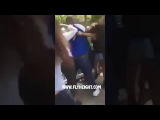 Уличная драка - огромный нигер бьет женщин