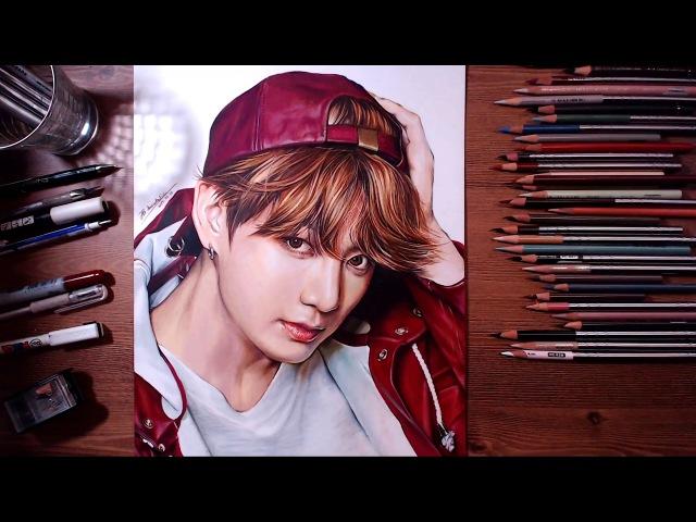 BTS : JungKook - colored pencil drawing   drawholic
