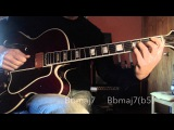Jazz Guitar - Pat Martino Dorian Scale &amp approach notes - different chord