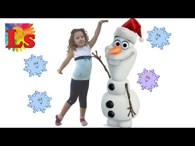 ЛИНА лепит СНЕГОВИКа всей СЕМЬЁЙ LINA sculpts a SNOWMAN with the whole FAMILY