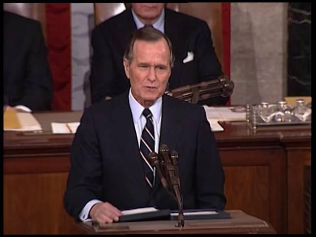 Доклад Президента США Джорджа Буша-старшего о положении дел в Союзе. 31 января 1990 года.