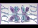 Como Hacer Lazos DIY 36 Mariposa Kanzashi en Cintillo