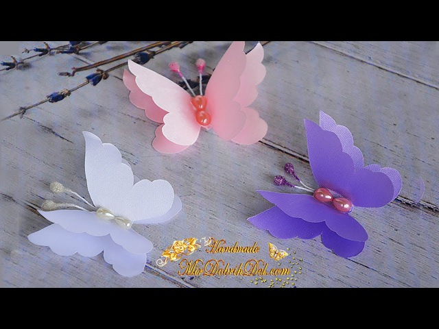 БАБОЧКИ из лент 🌺 Kanzashi butterflies ribbon 🌺