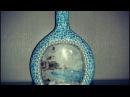 Декор бутылки Bottle decoupage