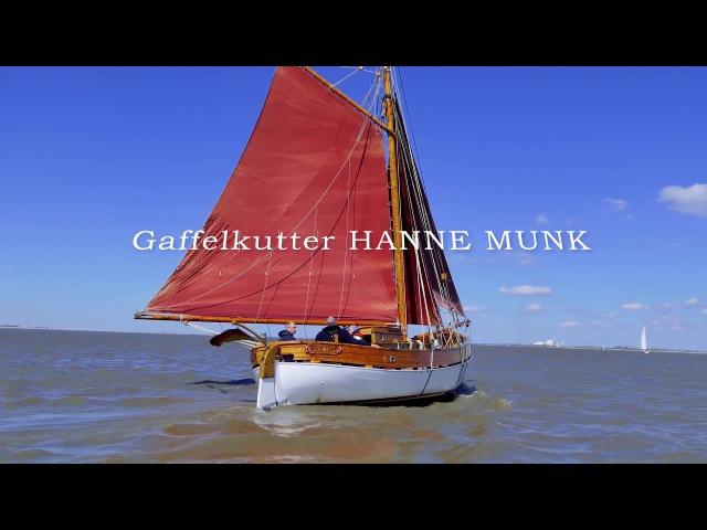 FOR SALE HANNE MUNK Gaffelkutter Bj 1920 auf der Elbe 4k