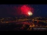 Салют на День ВМФ в Санкт-Петербурге - аэросъёмка