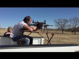 Travis shooting his Armalite AR-10 .308 at 400 yards