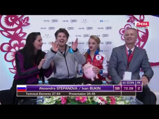 Гран-При Китая. Танцы на льду. Короткая программа. Алесандра Степанова/Иван Букин