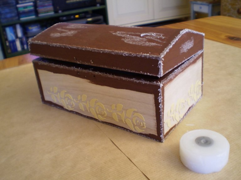 Декупаж шкатулки в стиле шебби шик: мастер-класс