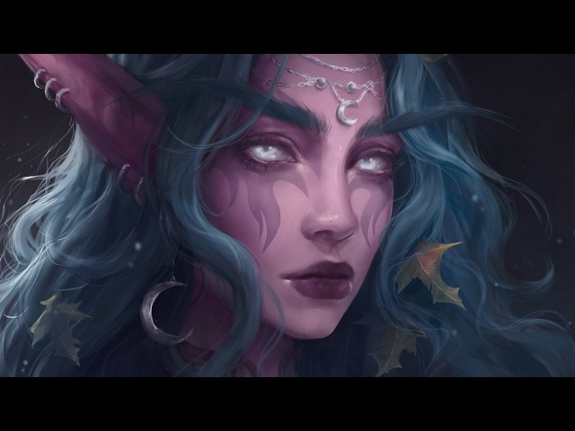 Astri Lohne — Tyrande | Digital Painting Process