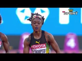 Elaine Thompson wins women's 100m semi-final 2 | IAAF World Champs 2017