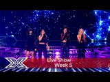 Four Of Diamonds battle it out for their place Results Show The X Factor UK 2016