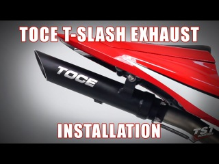 How to install Toce Performance T-Slash Exhaust on a 2007-2012 Honda CBR600RR by TST Industries