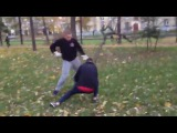 Уличная драка - лютый борец