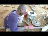 Печь из стальной бочки, красивая работа жестянщиков из Африки