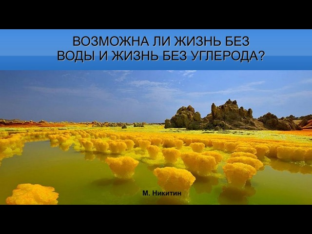 Михаил Никитин: Возможна ли жизнь на другой химической основе?