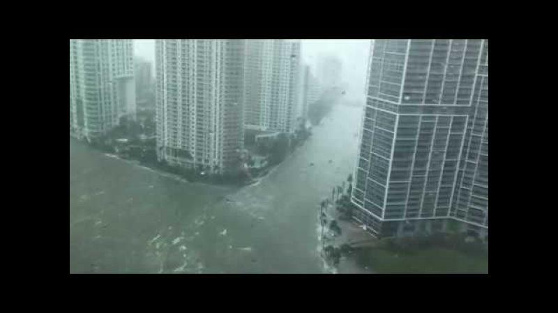 Hurricane Irma causes Storm Surge Flood in Brickell, Miami   Sept 10, 2017