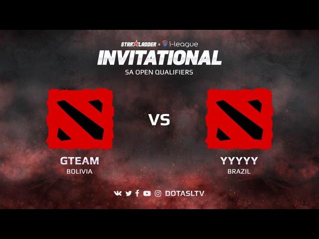 GTeam VS YYYYY Вторая карта Открытая SA квалификация SL i League Invitational S3