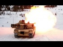 Monstrously Powerful M1 Abrams Leopard 2 Tanks in Action Heavy Live Fire in Winter Time