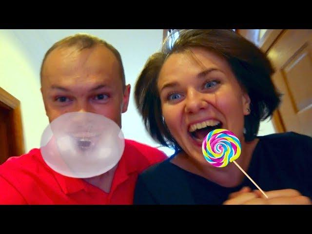 Bad Kids Родители стали детьми Steals MM's на детской площадке Candy Ice Cream Донатс on Playground