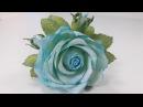 МК! Как сделать розу и бутончики на шпильке! How to make a flower and buds on a hairpin!