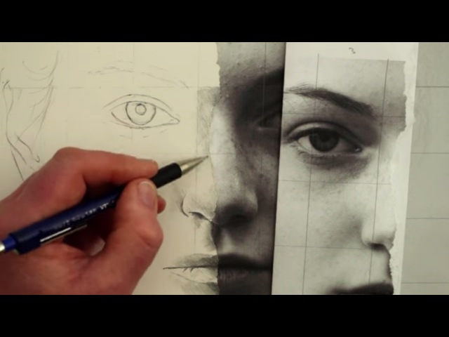 How to Draw a Female Face Using a Photograph Square by Square