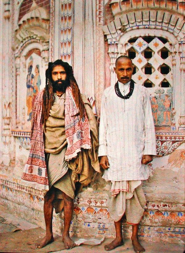 Пакистан, г. Лахор (Саду и брахман), 1914. © Музей Альберта Кана